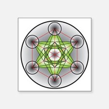 "Metatron's Cube Square Sticker 3"" x 3"""