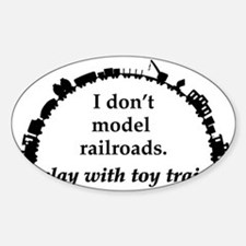 play with trains black Decal