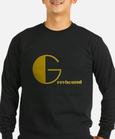 G reyhound MENS BLACK LONG SLEEVE TEE