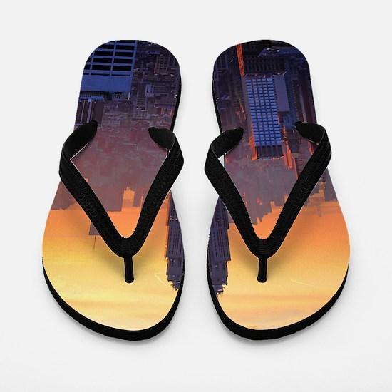 Empire State Building, NYC Skyline, Ora Flip Flops