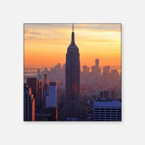 "Empire State Building, NYC  Square Sticker 3"" x 3"""