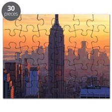Empire State Building, NYC Skyline, Orange  Puzzle