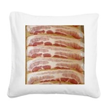 Bacon Square Canvas Pillow