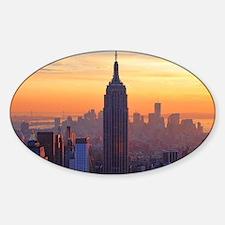 Orange Sunset, Empire State Buildin Decal