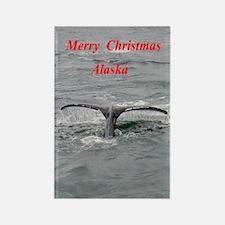 Humpback Whale Alaska Rectangle Magnet