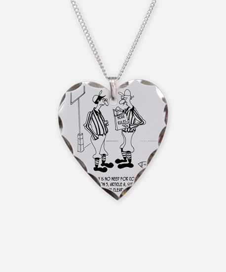 No Need for Confusion Necklace Heart Charm