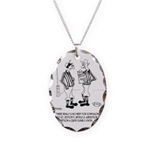 No Need for Confusion Necklace Oval Charm