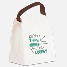 Righty Tighty Lefty Loosey Canvas Lunch Bag