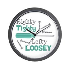 Righty Tighty Lefty Loosey Wall Clock