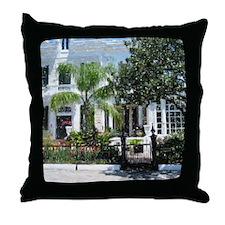 New Orleans Garden District Throw Pillow