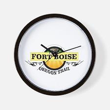 fort boise on the ot Wall Clock
