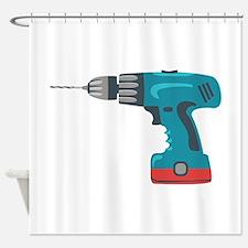 Power Drill Shower Curtain