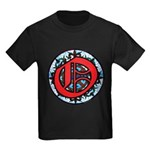 Stained Glass O Kids Dark T-Shirt
