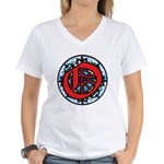 Stained Glass O Women's V-Neck T-Shirt
