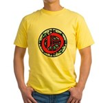 Stained Glass O Yellow T-Shirt