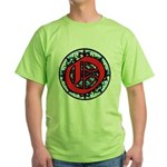 Stained Glass O Green T-Shirt