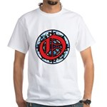 Stained Glass O White T-Shirt