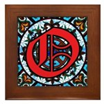 Stained Glass O Framed Tile