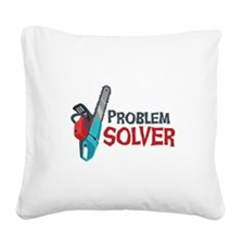 Problem Solver Square Canvas Pillow