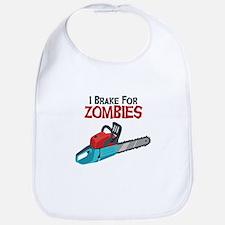 I Brake For Zombies Bib