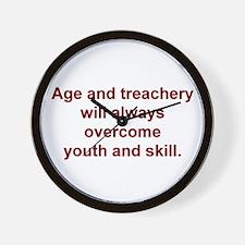 Age and treachery... Wall Clock