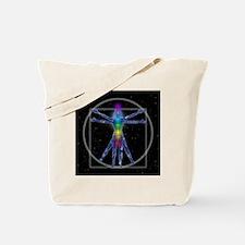 Vitruvian Spirit Woman Tote Bag