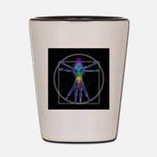 Vitruvian Spirit Woman Shot Glass