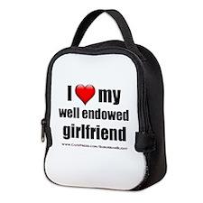 """""""Love My Well Endowed Girlfriend"""" Neoprene Lunch B"""