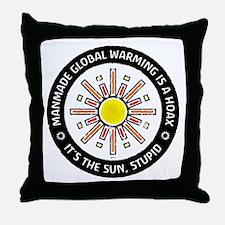 It's The Sun, Stupid Throw Pillow