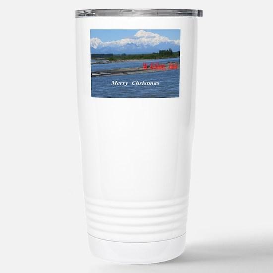Mt. McKinley, Alaska Stainless Steel Travel Mug
