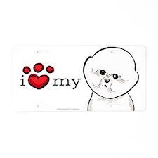 Love My Bichon Frise Aluminum License Plate
