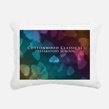 Bokeh Leaves Rectangular Canvas Pillow