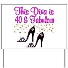 40TH HIGH HEEL Yard Sign