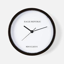 EAGLE REPUBLIC (ROMAN RUMERALS) Wall Clock