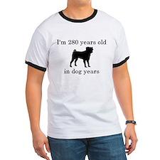 40 birthday dog years pug T-Shirt