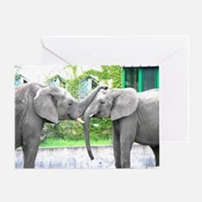 Love Kiss and hug elephants lovers Greeting Card