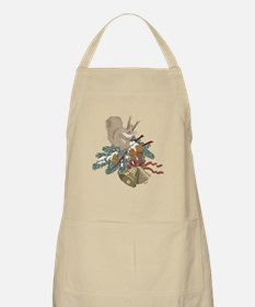 Country Winter Holiday Squirrel Apron