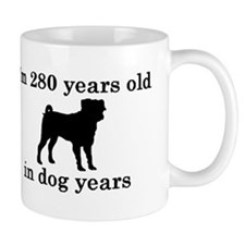 40 birthday dog years pug 2 Mugs