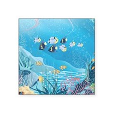 "Tropical Reef Square Sticker 3"" x 3"""