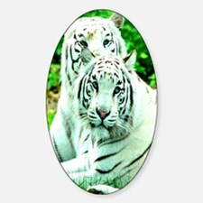 Love peace and joy White tigers stu Decal