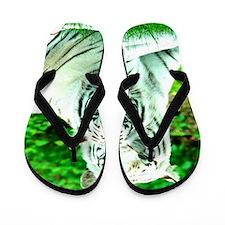 Love peace and joy White tigers stukenb Flip Flops
