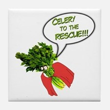 Celery to the Rescue! Tile Coaster