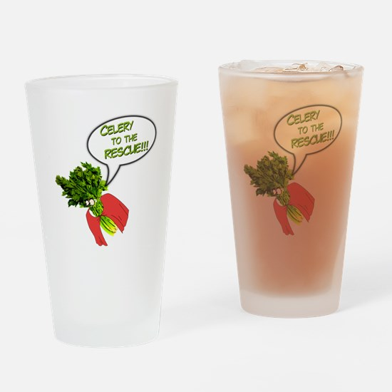 Celery to the Rescue! Drinking Glass