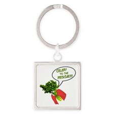 Celery to the Rescue! Square Keychain