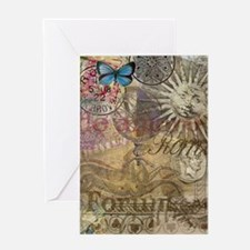 Rome Vintage Italy Travel Collage Greeting Cards