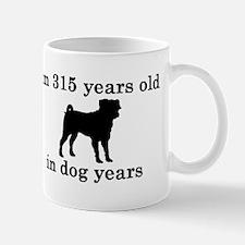 45 birthday dog years pug 2 Mugs