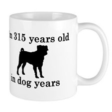45 birthday dog years pug 2 Mugs