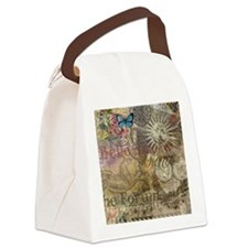 Rome Vintage Italy Travel Collage Canvas Lunch Bag