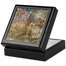 Rome Vintage Italy Travel Collage Keepsake Box