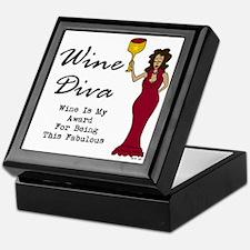 The Wine Diva - Wine Is My Award For  Keepsake Box